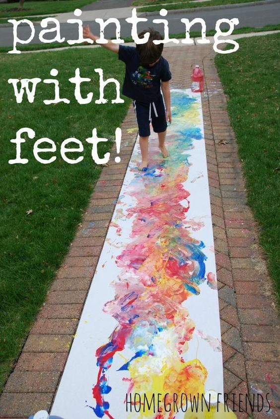 feet easy painting ideas