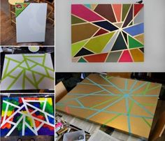 tape easy painting ideas