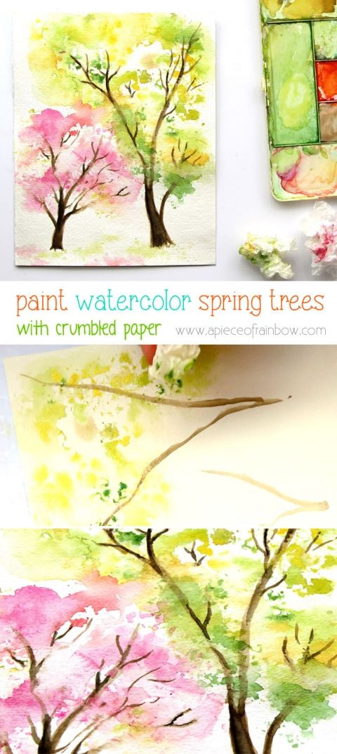 spring inspired watercolor painting ideas