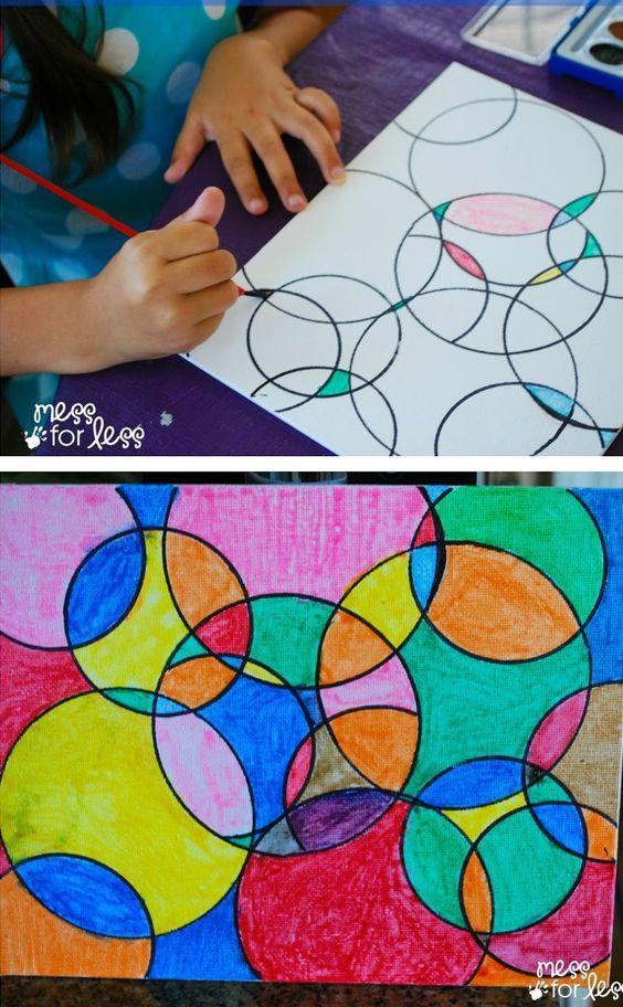 circle watercolor painting ideas