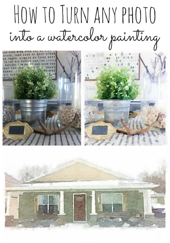 how to turn any photo into watercolor painting