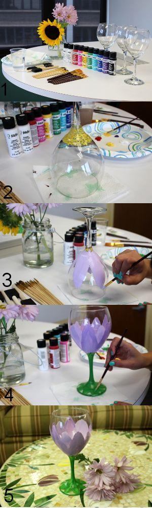 wg2 - 15 Painted Wine Glasses to Liven Up Your Meal