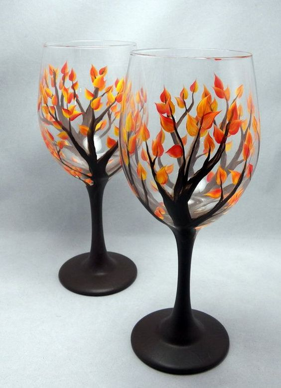 wg5 - 15 Painted Wine Glasses to Liven Up Your Meal