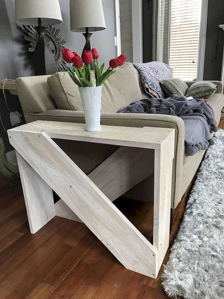 diy side table wooden boards