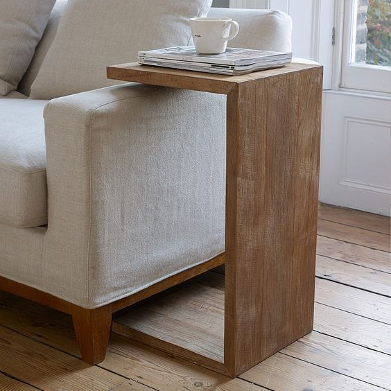 diy side table with coffee and books