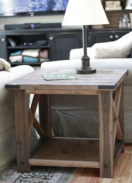 diy side table lamp on it