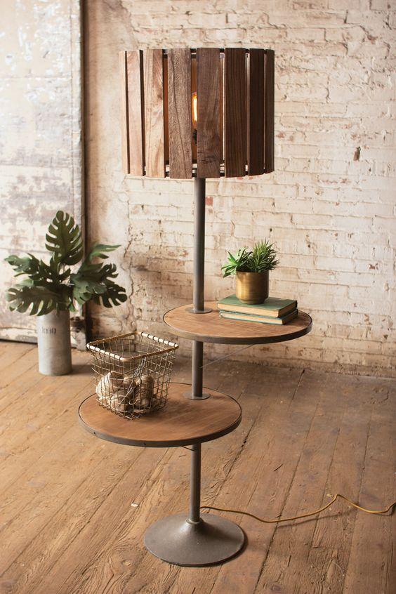 rustic  DIY floor lamp