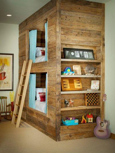 Space saver bunk beds