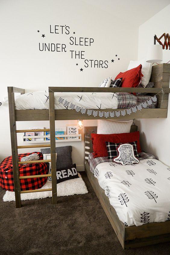 Lumberjack inspired bunk beds