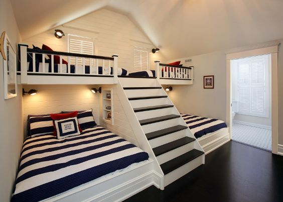 Bunkroom with stairs