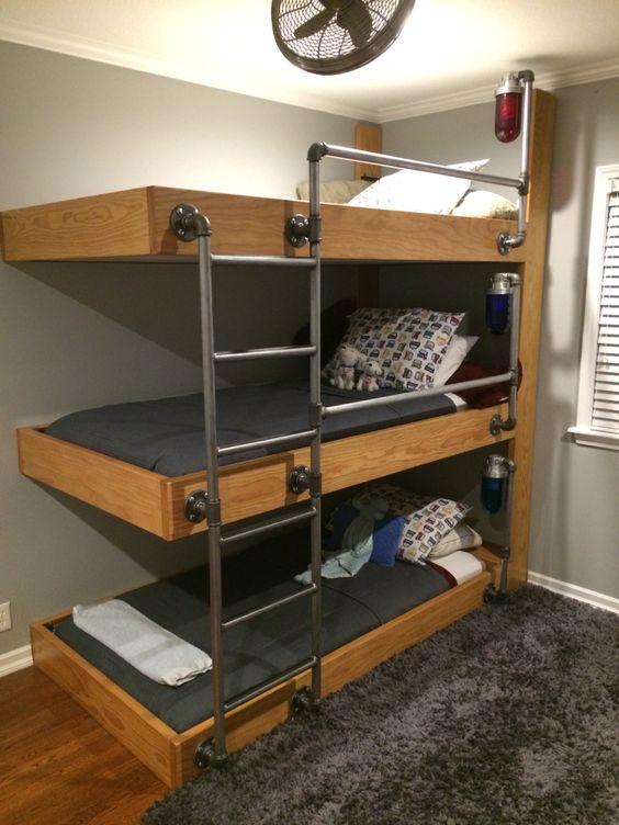Triple bunk bed idea