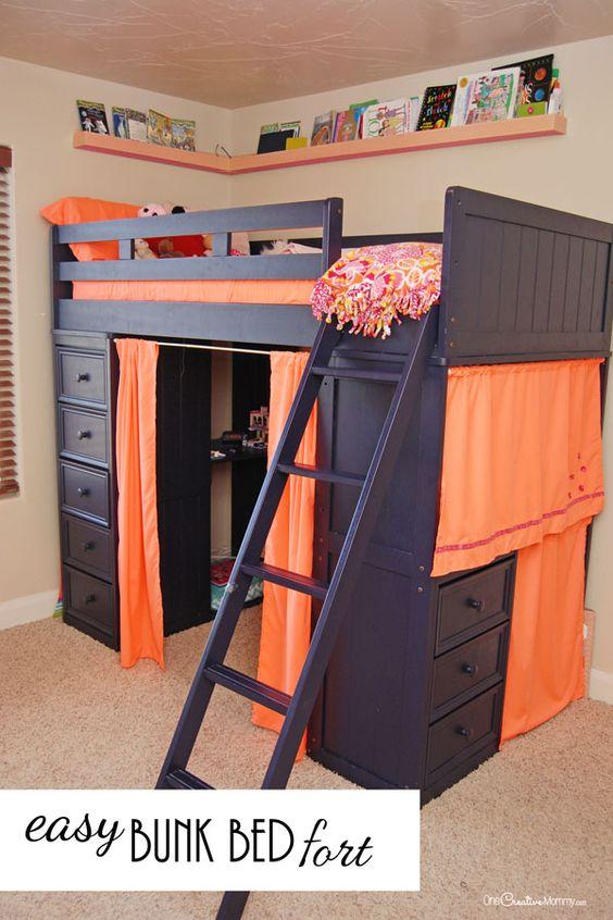 Fun bunk bed fort