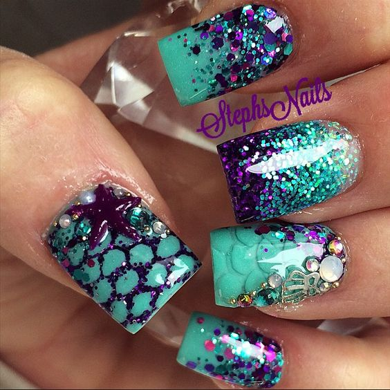 nail35 - 37 Acrylic Nail Art Designs You'll Want To Try For Upcoming Parties And Events