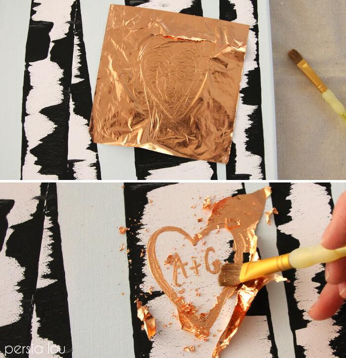 gold foil initials