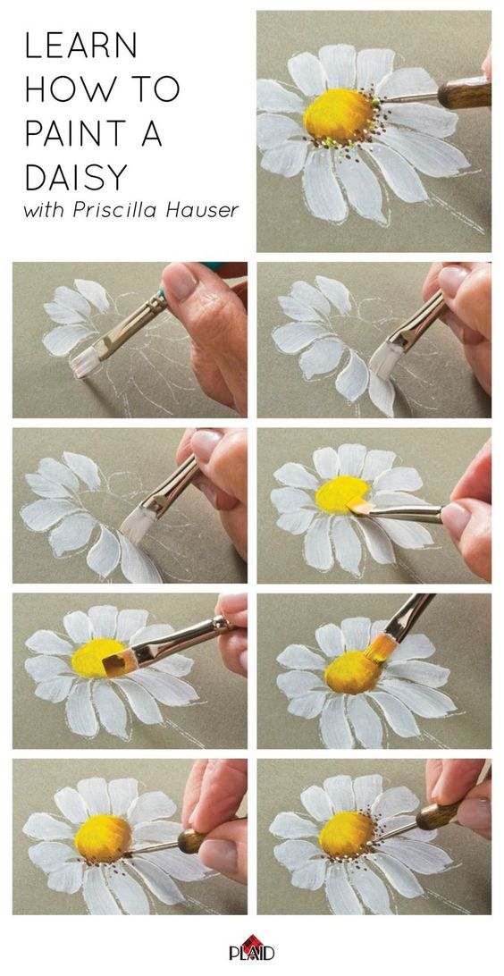 start painting with daisy