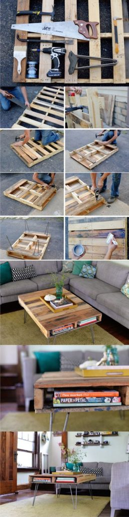 book storage pallet table