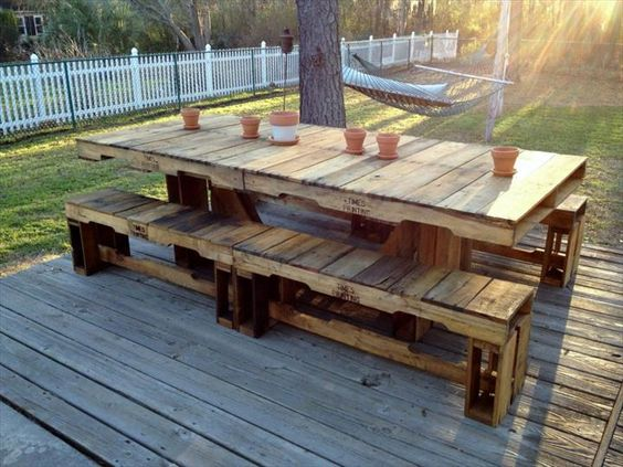 picnic pallet table