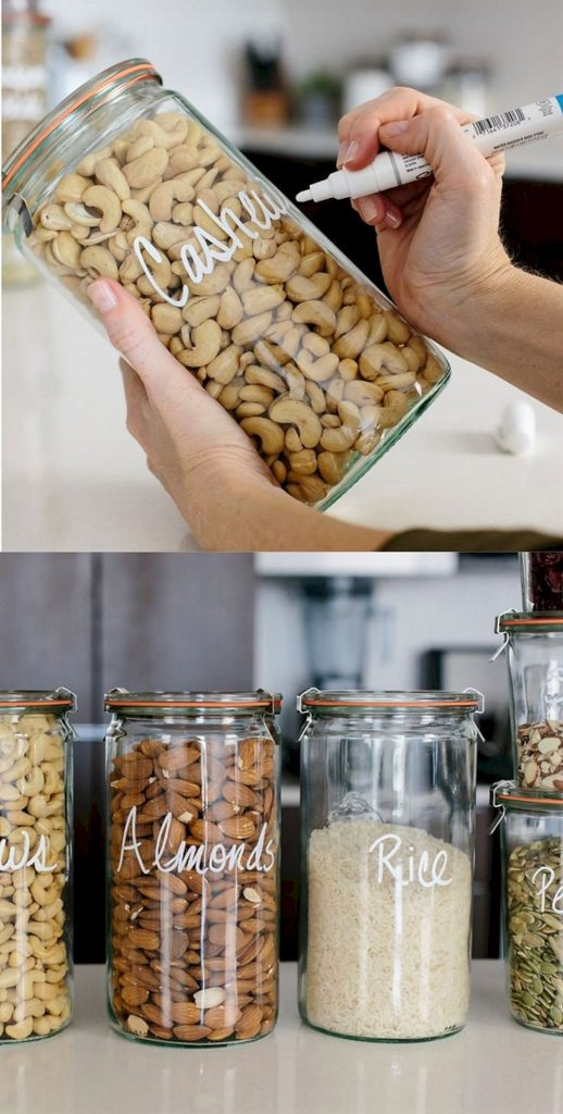 mason jars used for storing food