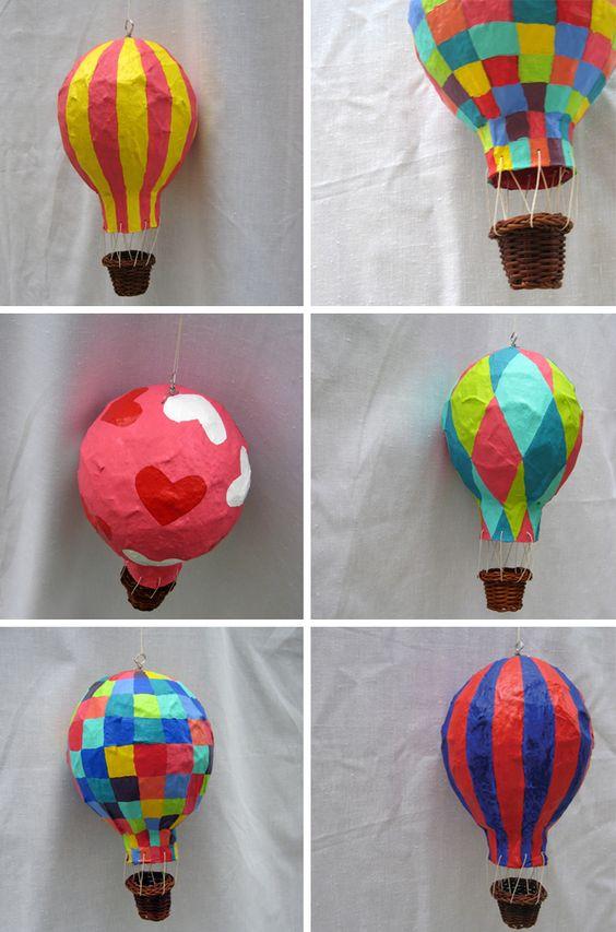 paper mache air balloon