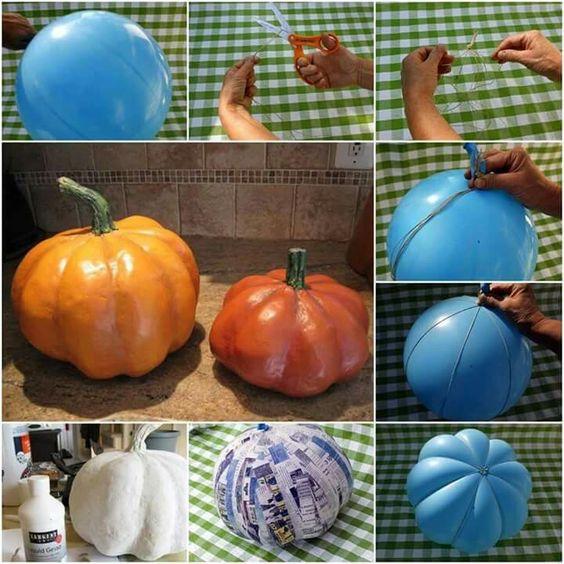autumn pumpkin paper mache decor