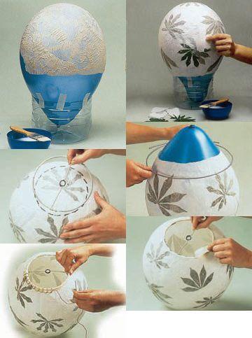 simple paper mache lamp