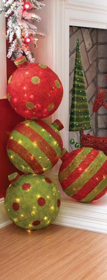 Christmas paper mache decor
