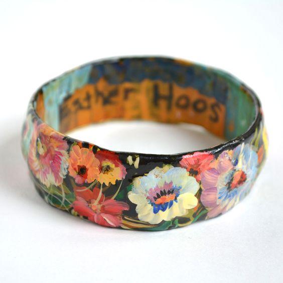 paper mache colorful bangle