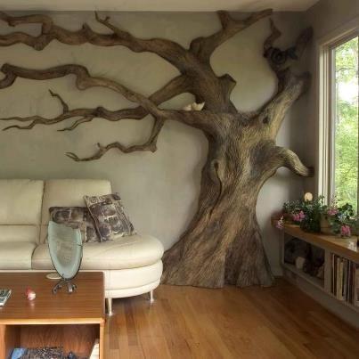 large paper mache tree