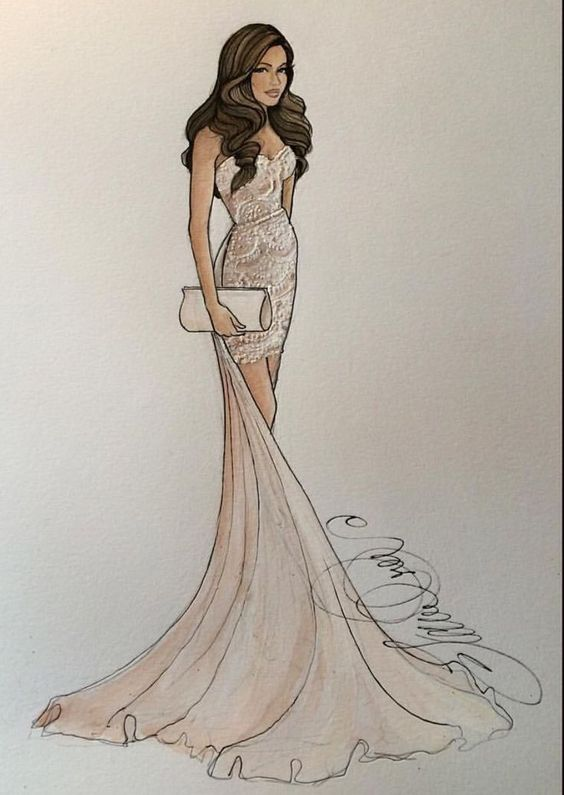 Cool Drawings DIY for Those Wandering and Bored Minds Creating a perfect gown is any girl's dream
