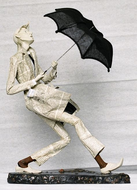 umbrella man paper mache
