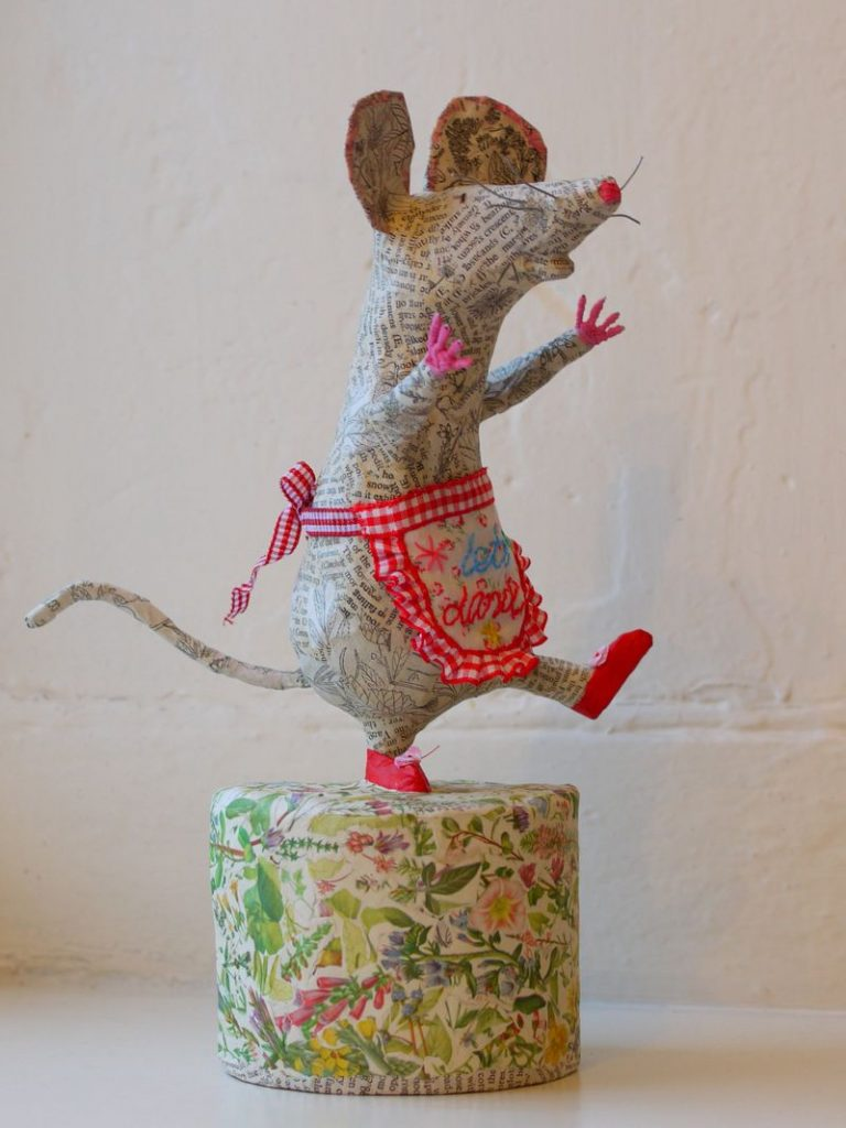 cute mouse paper mache