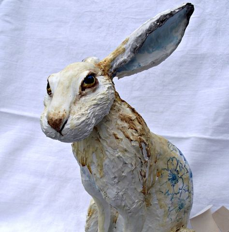 rabbit paper mache