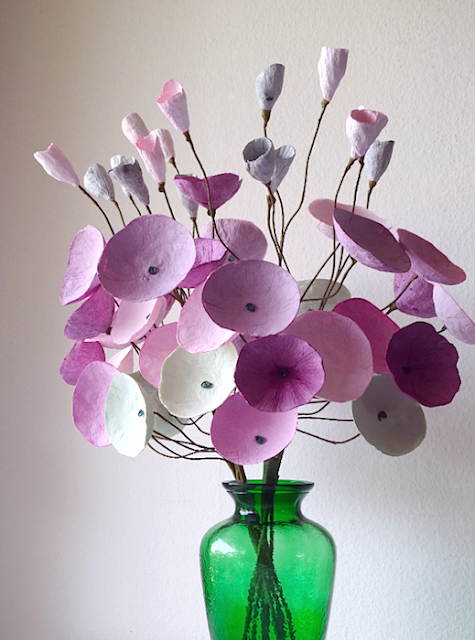 purple flowers paper mache projects