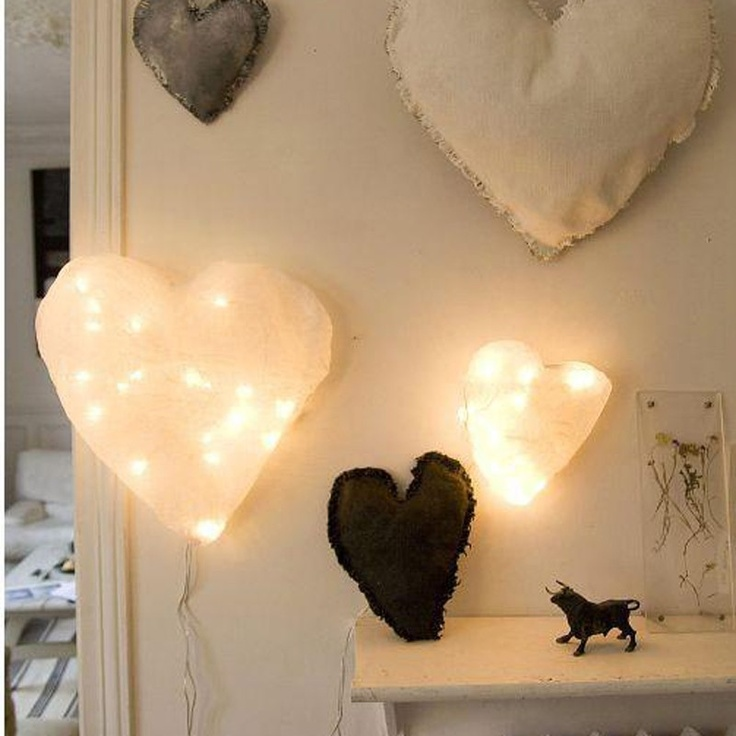 paper heart light