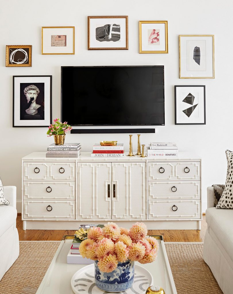 great wall art with tv