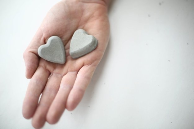 Sweet concrete heart magnets