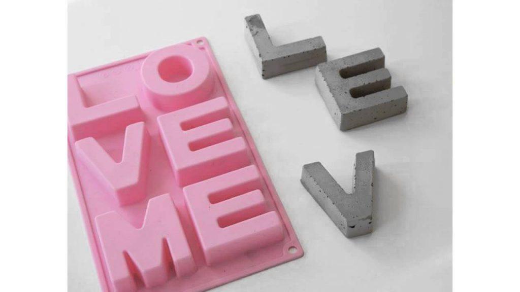 Letter concrete magnets