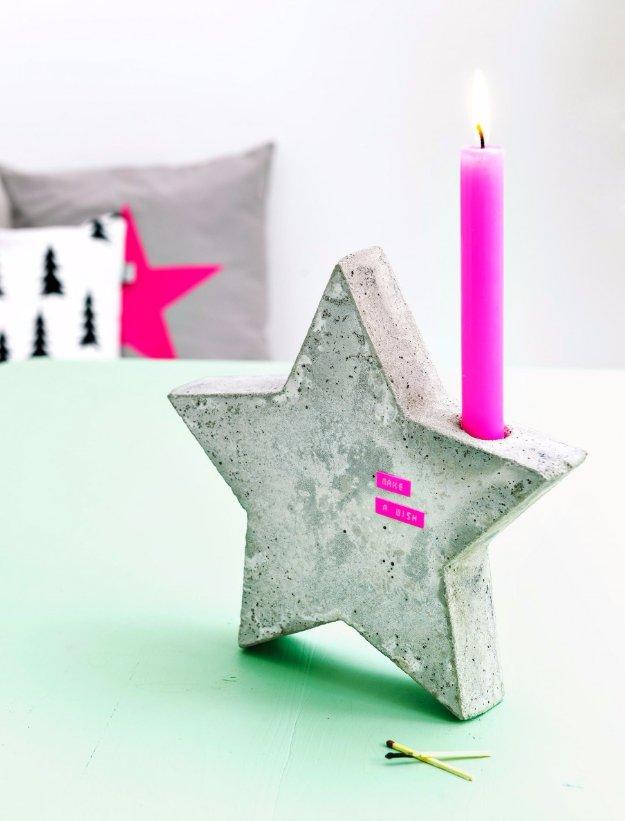 Concrete star holding the light