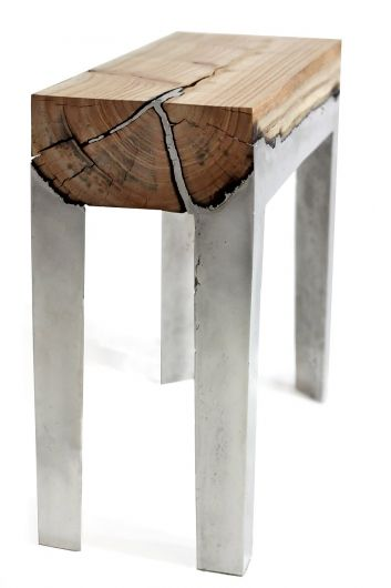 Wood and concrete merging