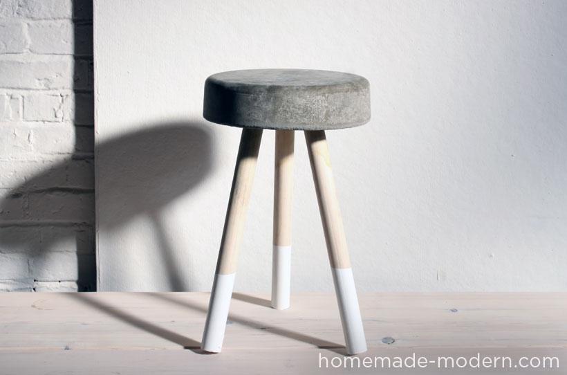 The simple concrete stool
