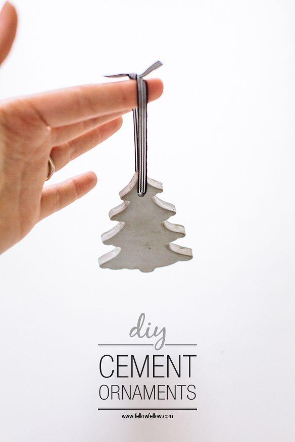 DIY Christmas cement decorations