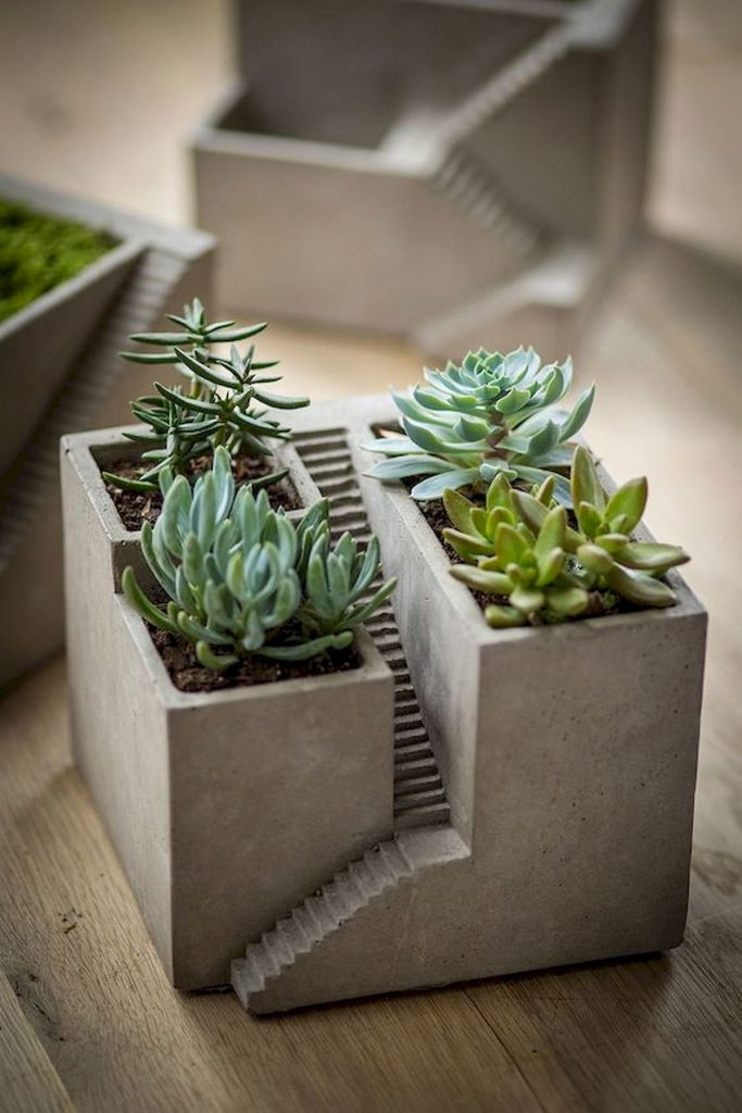 Architectural inspired flower container