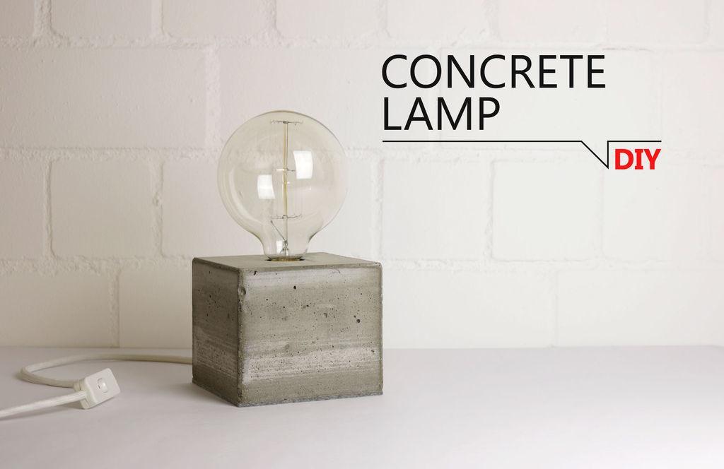 The simplest concrete lamp