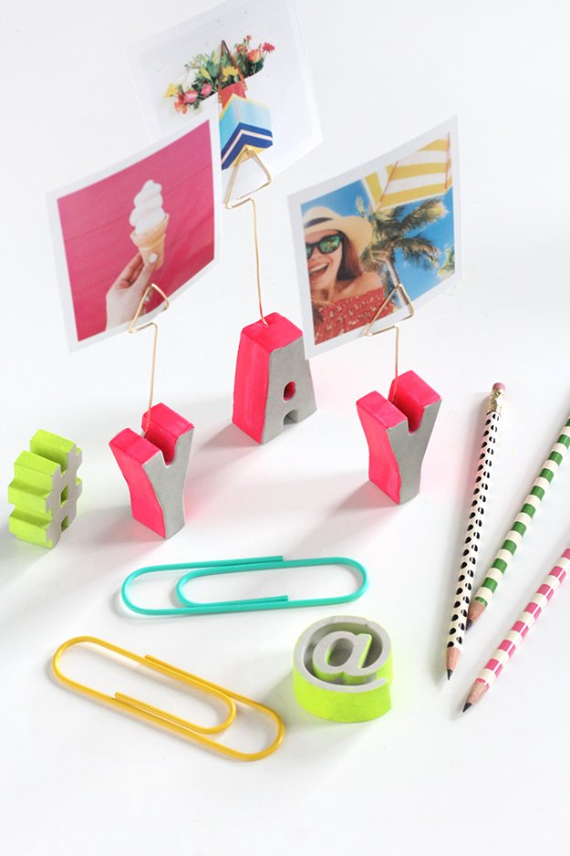 Picture letter cement holders