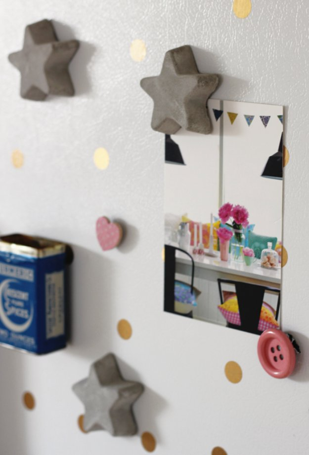 Star shaped magnets for your refrigerator