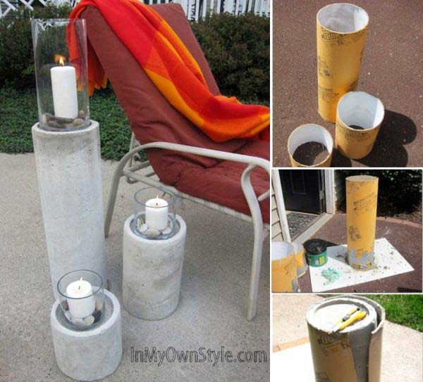Tall garden candle holders