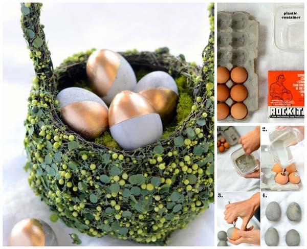 Concrete eggs for your Easter décor