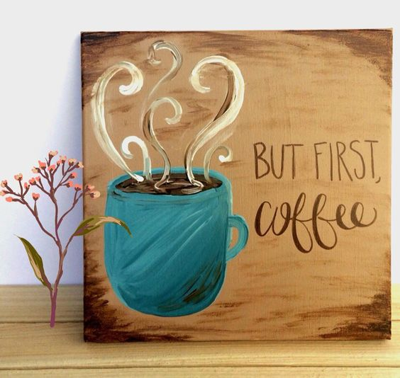 coffee easy canvas painting