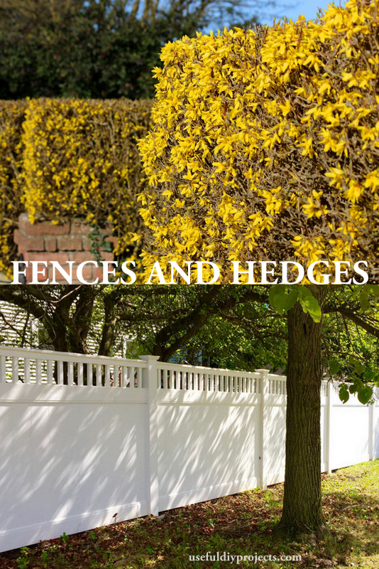 pro and cons for fences and hedges