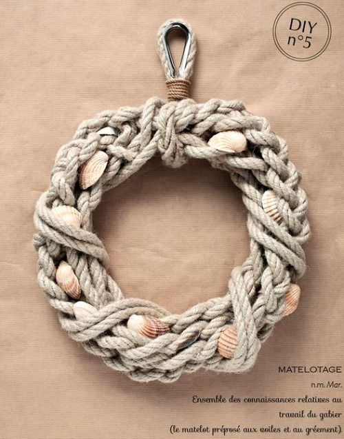 nautical rope with shells